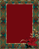 Floral frame with red rose Stock Photo
