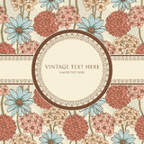 Floral frame in retro style Royalty Free Stock Image