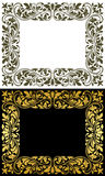 Floral frame in retro style Stock Images