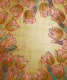 Floral frame retro style Stock Image