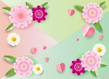 Floral frame romance place for text wishes Stock Photo