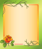 Floral frame with rose - eps Stock Image