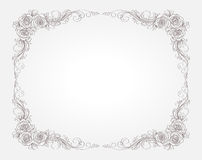 Floral frame with roses Royalty Free Stock Photos