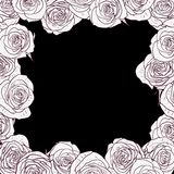 Floral frame with roses Royalty Free Stock Images