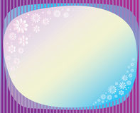 Floral Frame. Round Floral Frame with Leaves for a Greeting Card vector illustration vector illustration