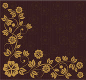 Floral frame in russian traditional style (vector). Floral frame in wooden color in russian traditional style in vector Stock Photo