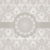 Floral Frame on seamless pattern Royalty Free Stock Photography