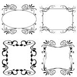 Floral frame set Royalty Free Stock Photos