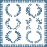 Floral frame set Royalty Free Stock Images