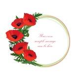 Floral frame set with flower bouquet. Design floral elements Stock Image