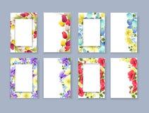 Floral frame set. Stock Photography