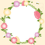 Floral Frame Set Retro Flowers Wreath Wedding Card Stock Images