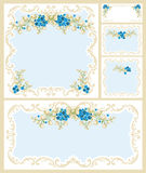 Floral frame set Stock Images