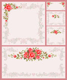 Floral frame set Royalty Free Stock Image