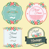 Floral Frame. Several badge or frame in floral theme Royalty Free Stock Photo