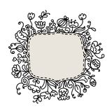 Floral frame sketch for your design Royalty Free Stock Photography