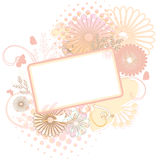 Floral frame soft colors Royalty Free Stock Images