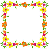 Floral frame with spring flowers Royalty Free Stock Photo