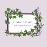 Floral frame with summer flowers Floral bouquet pattern Greeting Royalty Free Stock Images