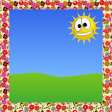 Floral frame and sunny day Royalty Free Stock Photo