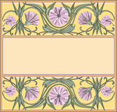 Floral frame. Template, art-nouveau style Royalty Free Stock Photography