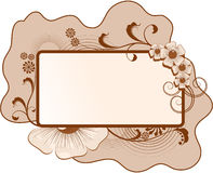 Floral frame for text. With flowers, leafs Stock Image