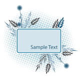 Floral frame for text royalty free illustration