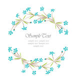 Floral frame. For text inside Royalty Free Stock Photography