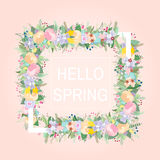 Floral frame with text place. Vector illustration Stock Image