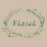 Floral frame with text Royalty Free Stock Image