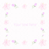 Floral frame for text watercolor vector Royalty Free Stock Images
