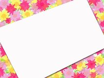 Floral Frame Tilted Stock Photography