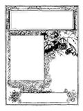 Floral frame to customise with own text Stock Images