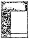 Floral frame to customise with own text Royalty Free Stock Photo