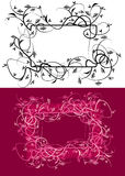 Floral frame vector 1 Royalty Free Stock Image
