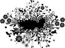 Floral frame, vector Royalty Free Stock Photos