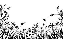 Floral frame, vector Stock Images