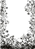 Floral frame, vector Royalty Free Stock Photo