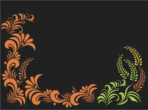 Floral frame in vector Stock Photos