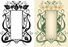 Floral frame vector Royalty Free Stock Photos
