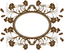 Floral frame, vector Stock Photos