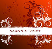Floral frame - vector. Floral frame  in red and wite- vector Royalty Free Stock Photos