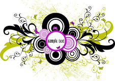 Floral   frame - vector. Floral background with frame - vector Royalty Free Stock Photo