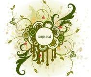 Floral frame - vector Stock Image
