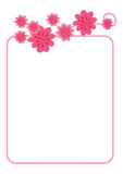 Floral frame - vector Stock Photo