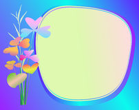 Floral frame vector. Beautiful greeting text stock illustration
