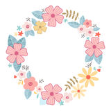 Floral Frame, vector illustration. Floral Frame. Flower wreath background for beautiful design Royalty Free Stock Images