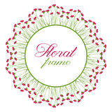 Floral Frame. Vector illustration of floral frame for text inside Royalty Free Stock Photos