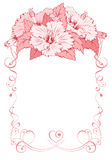 Floral frame. Vector Floral Frame for invitations or announcements with exotic hibiscus. Easy to edit Royalty Free Stock Photos