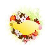 Floral frame / vector / spring Royalty Free Stock Photography